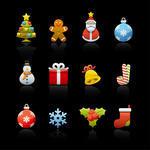 Christmas background icons