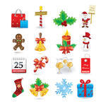 Christmas icon vectors