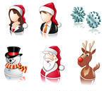 Christmas santa and reindeer icons
