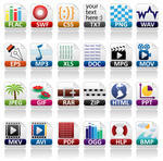 Document file extensions web icons