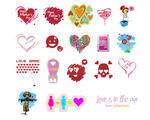 Great Love Icons Vector