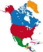 North America map icon