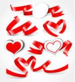 Valentine's Day Web Design Ribbons