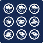 Weather icons raster
