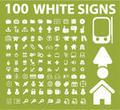 100 white icons