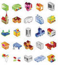 3d Architecture Icons