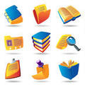 3D Books and Paper Icons