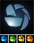 3D Logo Icon Colors