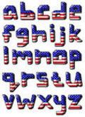 American flag fonts