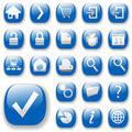 Blue shiny web buttons