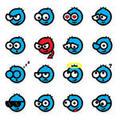 Blue Smiley Emoticons