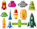 Cartoon rocket icon