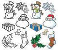 Christmas icons and holidays theme