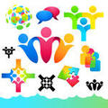 Connecting people icons