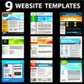 Different website templates and layouts