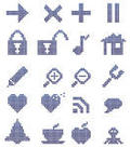 Dotted toolbar icons