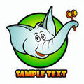 Funny elephant icons