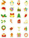 Gold Christmas icons