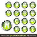Green Vector Buttons