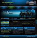 Hot Website Template Vector