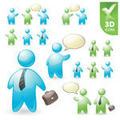 People Vector in 3D