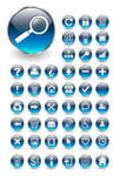 Professional Icons in Aqua