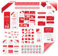 Red elements for web designs