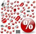 Red price tags icon