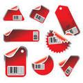 Red sticker set