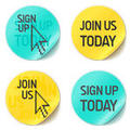 Sign up icons