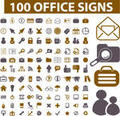 Tons of office signs