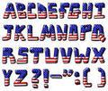 USA flag font