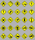 Warning signs and Icons