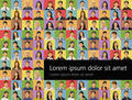Web Background of people
